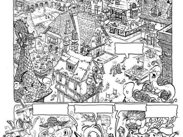 Tavole presentate al Festival International de la bande Dessinée di Angoulême