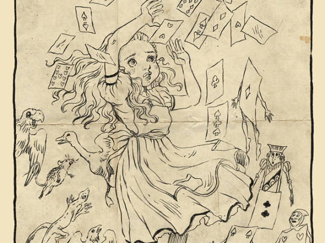 Alice in wonderland /  through the looking glass sketchbook